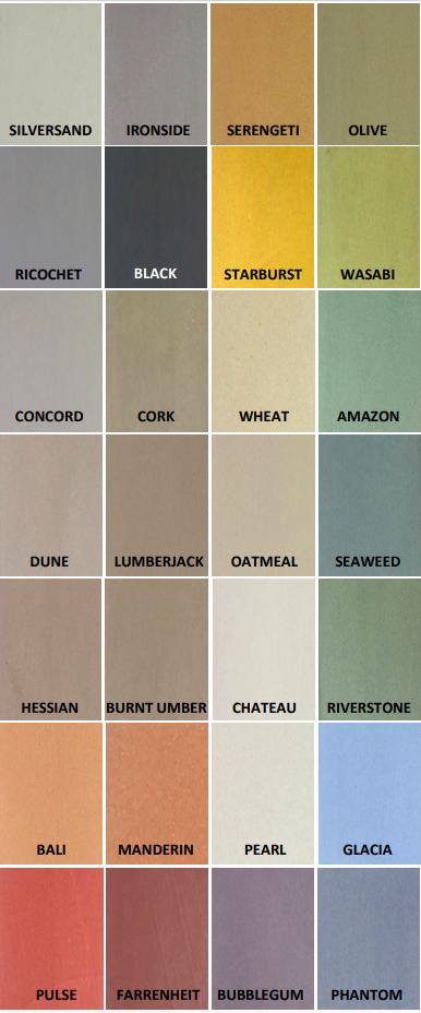 Microcolour colour range at Permacolour